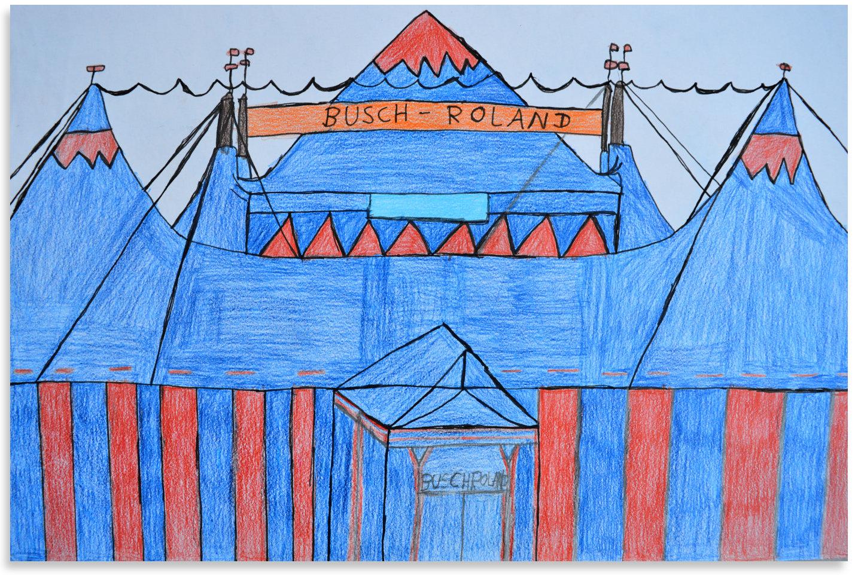 Zirkuszelt in Blau von Martin PF